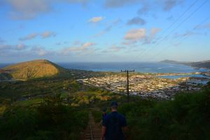 The view from the top of Koko Crater. Photo: John R. Cole